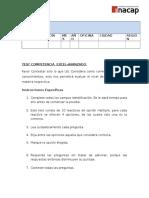 INFO-09-011 09-012 09-013 Test Diagnóstico Excel Avanzado-Alumnos