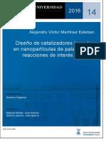 TESIS - Diseño de Catalizadores Basados en Nanopartículas de Paladio Para Reacciones de Interés Sintético - 2016 - Alejandro Martínez