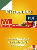 McDonald's (10 OM Decisions)