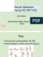Pemberian Makanan Pendamping ASI (MP-ASI) BULAN BAKTI 2016.ppt