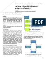 New Methods for Improving of the Product Quality in the Automotive Industry