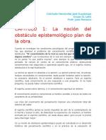 La noción del obstáculo epistemológico plan de la obra.