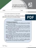 Ficha 2, Puntos de Vista y Propósito en Textos No Literarios
