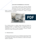 Sistema de Filtración Por Membrana de Tetra Pack
