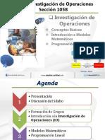 Investigacion de Operaciones-Conceptos Basicos IO Semana 1