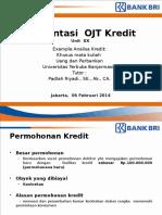 Contoh Analisa Kredit