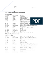 Academic Calendar Fall 2016 to Summer 2018