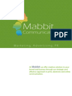 Mabbit Communications - Full Service Marketing, Advertising and Public Relations Company Brochure