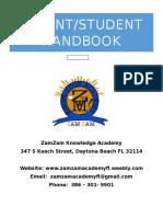 zamzam parent student handbook
