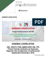 30-08-16 Senado PRI Agenda Legislativa