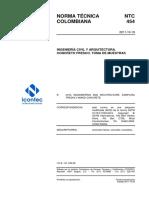 Norma Tecnica Ntc Colombiana 454