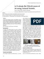 New Strategy to Evaluate the Effectiveness of New Treatments using Animal Models