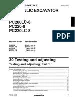 Komatsu PC200-8 Testing and Adjusting