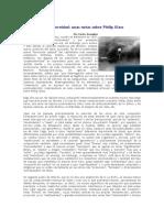Musica y Post Modernidad Unas Notas Sobre Philip Glass