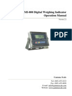 Gamma Scale- GMI-800 Digital Weighing Indicator Operation Manual 2.2