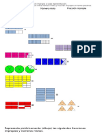 Transformar numeros mixtos como fracción mediante la representcaión pictorica