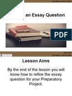 1  refining an essay question