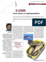 ISO 22000 - Operational Prerequisite Programs - Design and Implementation
