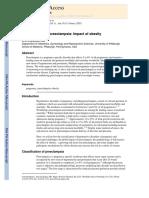 Epidemiology of Preeclampsia Impact of Obesity