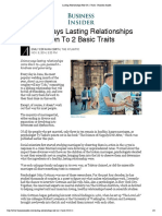 Lasting Relationships Rely on 2 Traits