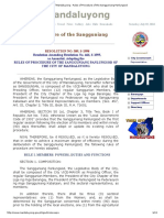 City of Mandaluyong _ Rules of Procedure of the Sangguniang Panlungsod