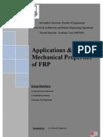 Applications & Mechanical Properties of FRP