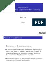 Economic Data and Econometric Modeling