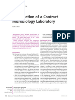 Qualification of a Contract Microbiology Laboratory