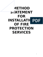 18376353 Work Method Statement for Fire Protection