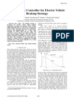 Fuzzy Logic Controller for Electric Vehicle Braking Strategy