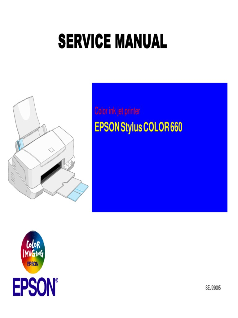 Epson Stylus Color 660 Service Manual | Printer (Computing) | Power Supply