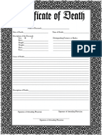 Death Certificate Editable