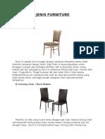 Kategori Jenis Furniture