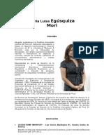 María Luisa Egúsquiza Mori
