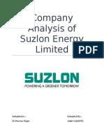 Company Analysis of Suzlon Energy Limited