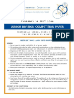 AMC Junior Division 2008 Paper