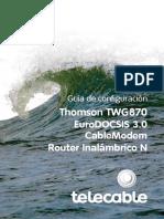 Guía de Configuración Del Thomson TWG870