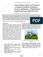 Spread and Environmental Impact to Presence of Sulawesis Endemic Butterfly Graphium Androcles Boisduval Lepidoptera Papilionidae in Bantimurung Bulusaraung National Park