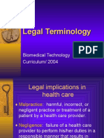 B Legal Ethical Terminology