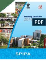 Training Calendar 2016-17