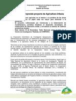 CORPOICA Proyecto Agricultura Urbana