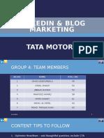 Tata Motors LinkedIn Strategy