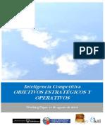 Inteligencia Competitiva. OBJETIVOS ESTRATÉGICOS Y OPERATIVOS