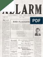 Allarm - nr. 1, 1. årgang, april 1924