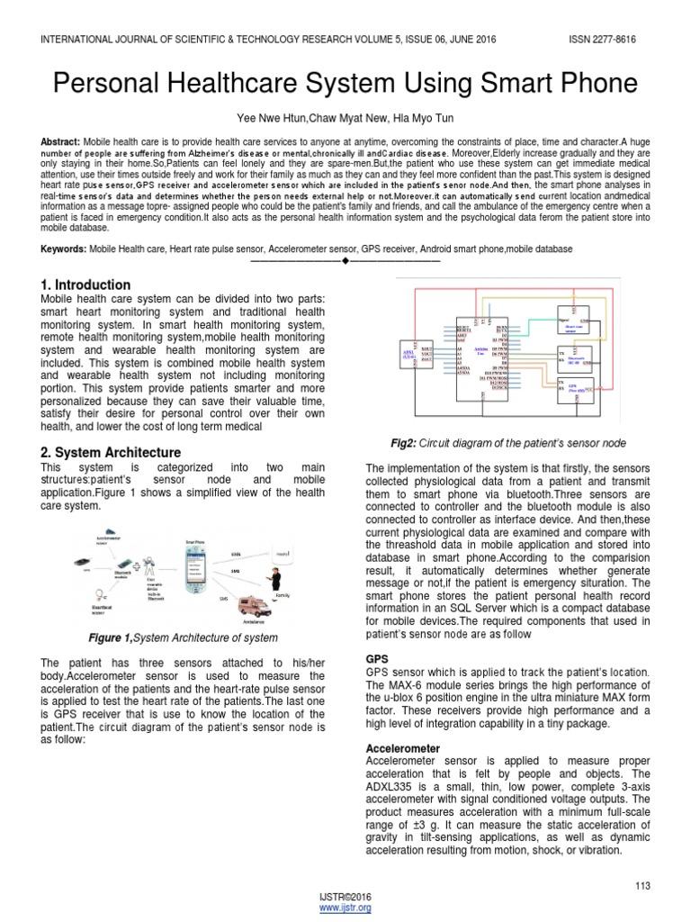 Personal Healthcare System Using Smart Phone Arduino Bluetooth High Integrated Telephone Circuit Diagram Telephonerelatedcircuit