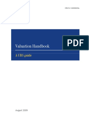 2009 Valuation Handbook a UBS Guide | Valuation (Finance