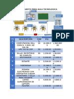 Presupuesto Para Aula Tecnologica