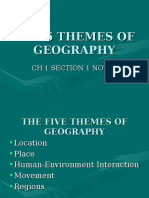 5 themes of geography 2016-17