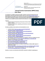 The National Professional Practice Examination Study Materials Information Sheet