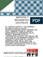 Nativos y Migrantes Digitales